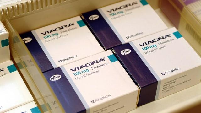 Viagra Medikamentenschachteln