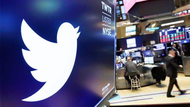 Logo Twitter an Börse