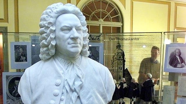 Marmorbueste des Komponisten und Thomaskantors Johann Sebastian Bach