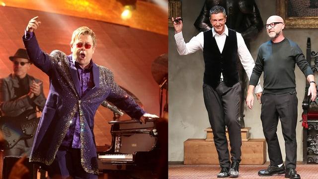 Elton John und Dolce und Cabbana