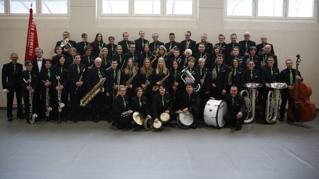 Gruppenfoto von der Feldmusik Bennau.
