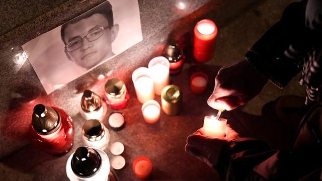 In Gedanken an den ermordeten Journalisten Jan Kuciak.