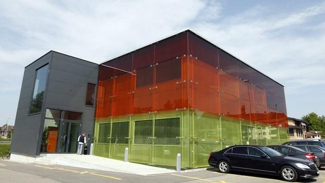 Gebäude der Verkehrsleitzentrale Schweiz in Emmen.