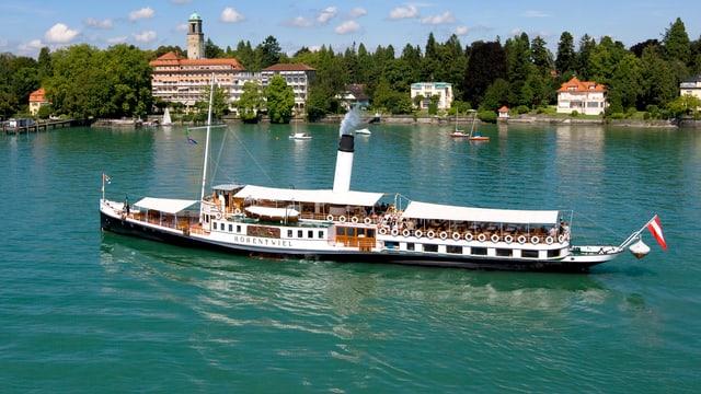 Die «Hohentwiel» ist das einzige Dampf-Schiff auf dem Bodensee. Seit 100 Jahren ist der Luxus-Dampfer unterwegs.