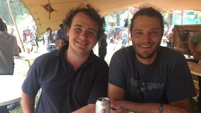 Dominic Oberli (sanester) e Beat Raffeiner da Bravuogn.
