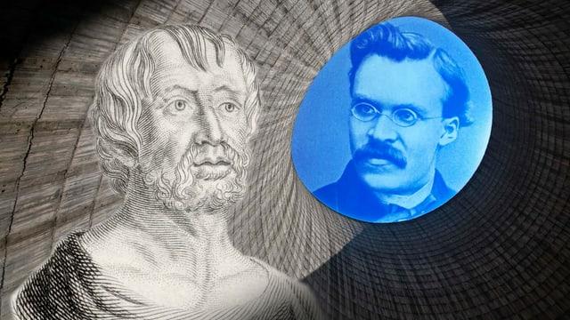 Bildmontage von zwei Philosophen