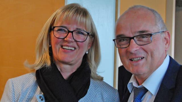 Anne Speiser und Pierre-Alain Schnegg.