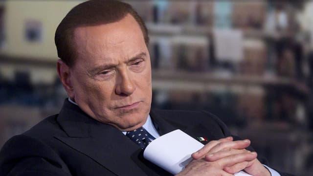 Silvio Berlusconi vor einem TV-Auftritt