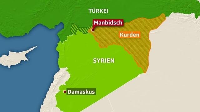 Karte Manbidsch.