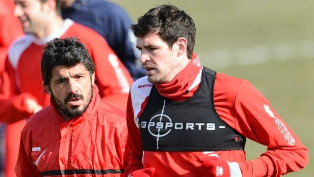 Gennaro Gattuso (l.) und Kyle Lafferty werden in Palermo erneut zusammenarbeiten.