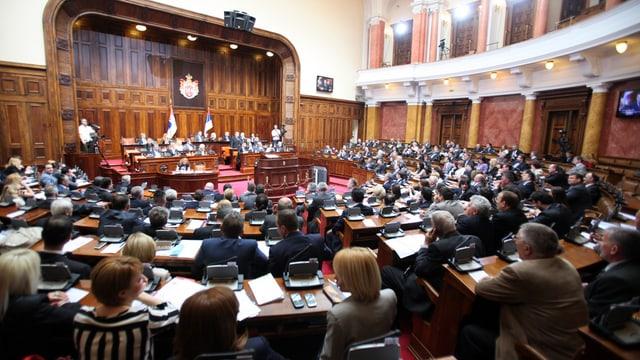 Blick ins serbische Parlament