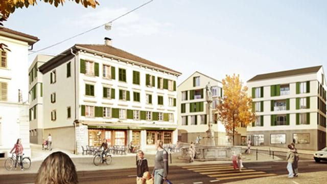 Visualisierung Dorfplatz Ruswil
