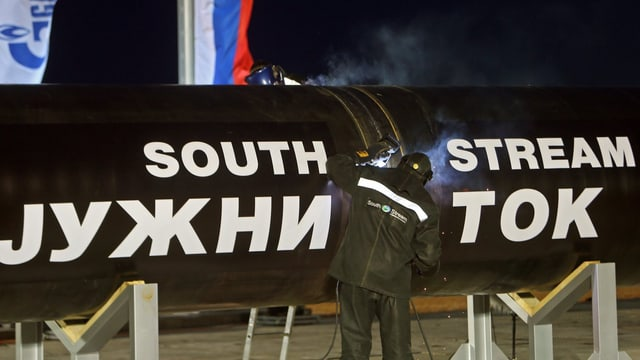 Pipeline der South Stream-Leitung