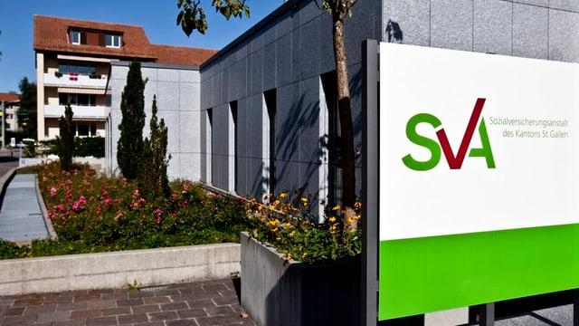 Blick auf das Gebäude der SVA St. Gallen