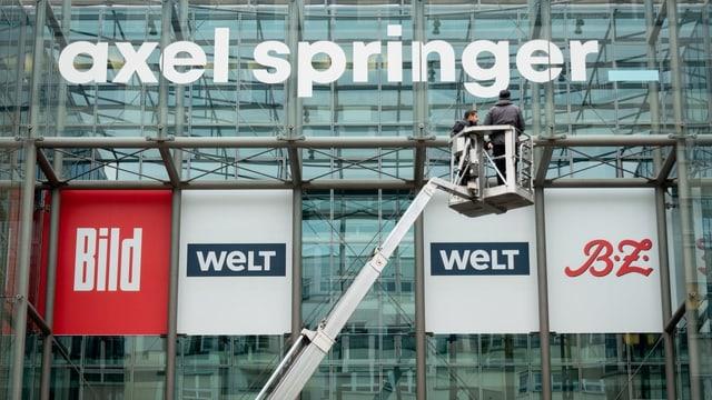 Logos der Zeitungen von Axel Springer.