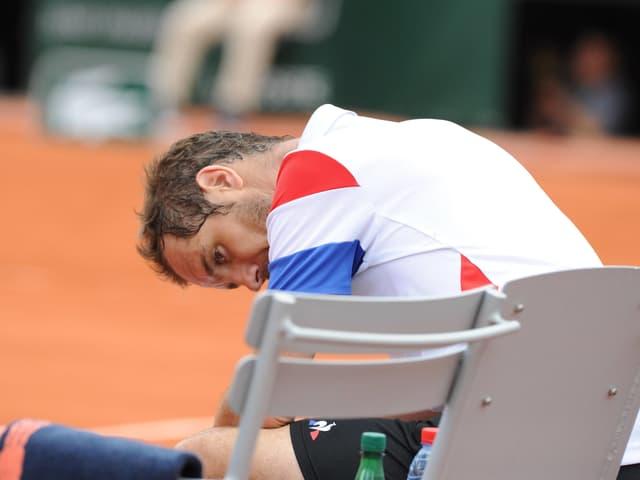 Richard Gasquet während dem Spiel gegen Rafael Nadal.