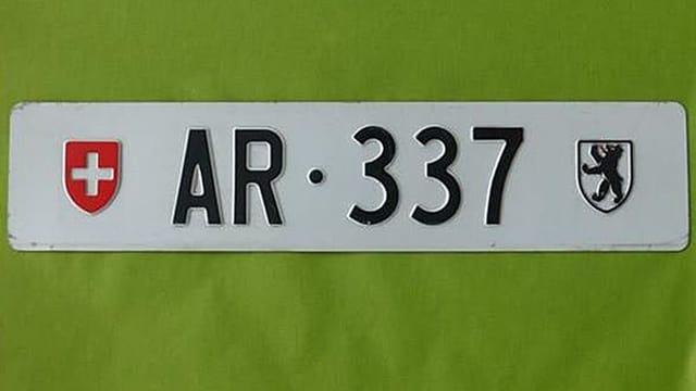 Ein Ausserrhoder Nummernschild