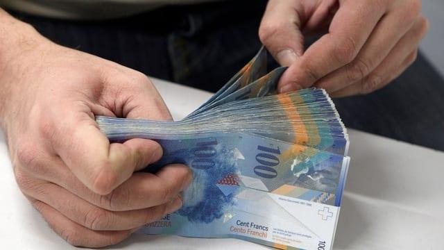 maletg simbolic, bancnotas svizras da 100