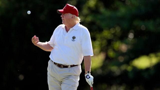 Trump bei einem Golfturnier im Jahr 2012.