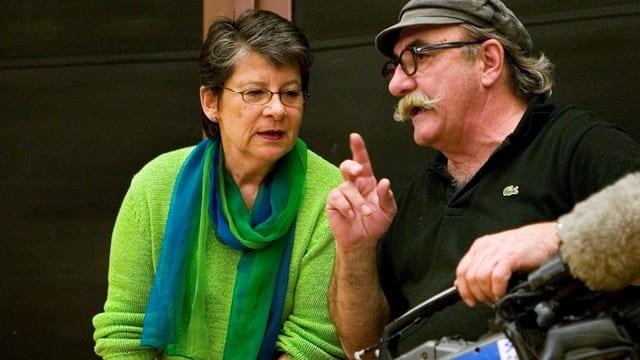 Aufnahme von Marianne Pletscher, neben ihrem Ehemann Werner Schneider (2007 verstorben).