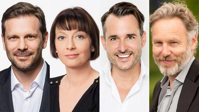 Reto Peritz, Priska Eichenberger, Yves Schifferle und Tom Schmidlin