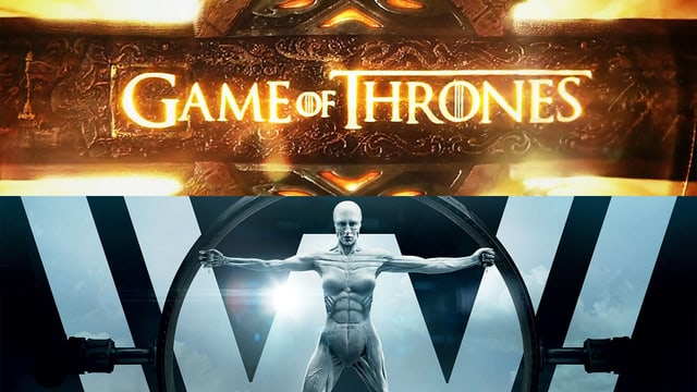 Key Visuals von Game of Thrones und Westworld