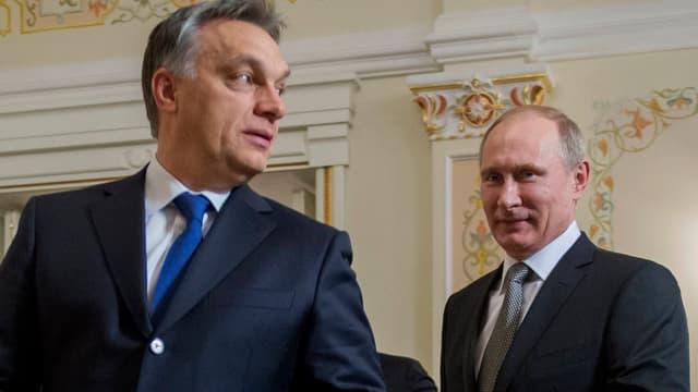 Viktor Orban (links) neben Russlands Präsident Vladimir Putin.