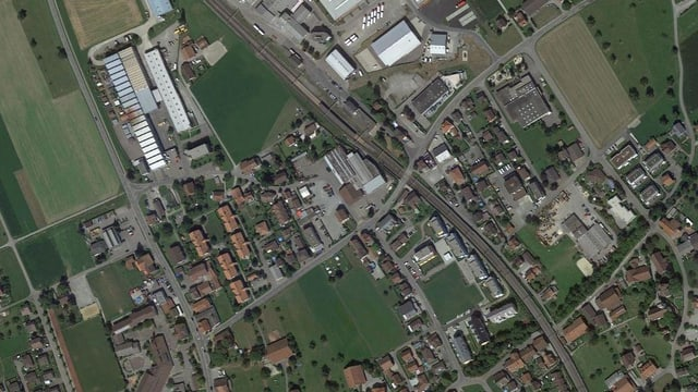 Satelitenaufnahme von Boswil.