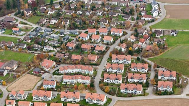 Wohnsiedlung von oben