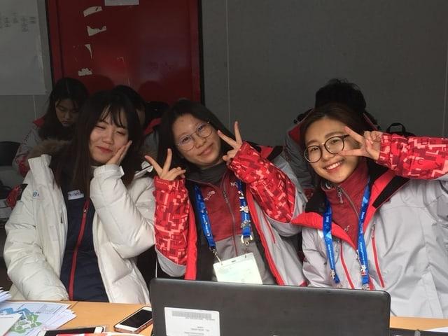 Die Volunteers zauberten in Pyeongchang manchem ein Lächeln aufs Gesicht.