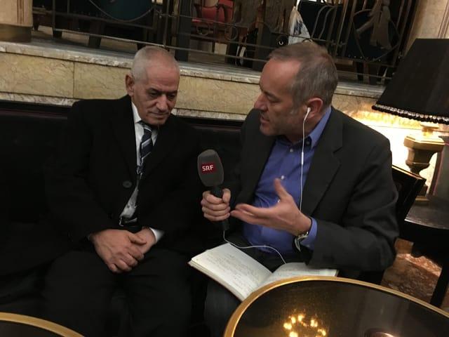 Gespräch mit tunesischem Friedensnobelpreisträger in Oslo.