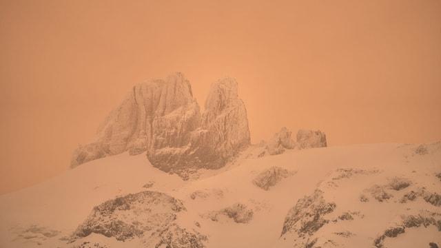 In Engelberg waren die Berge kaum noch zu sehen.