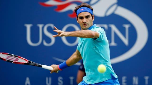Roger Federer strebt den ersten US-Open-Titel seit 2008 an.