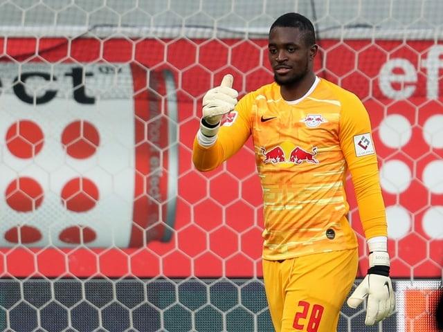 Yvon Mvogo kam in der Hinrunde in der Bundesliga nur einmal über 90 Minuten zum Einsatz.