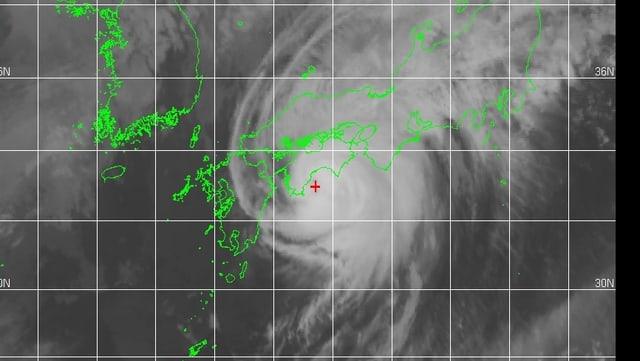 Satellitenbild des Taifun Halong