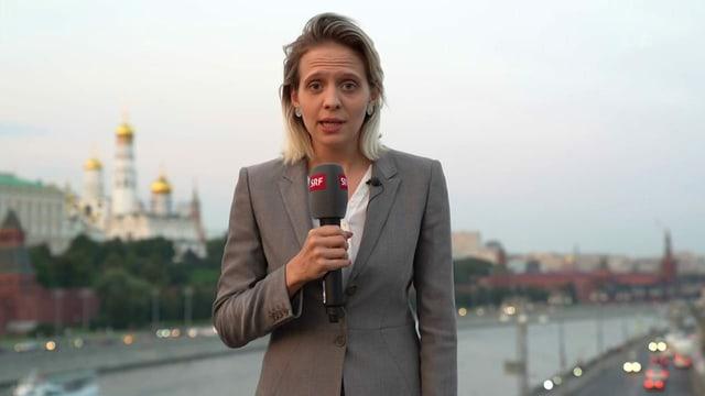 Korrespondentin Luzia Tschirky in Moskau