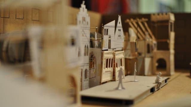Ein Modell der Stadt Luzern.