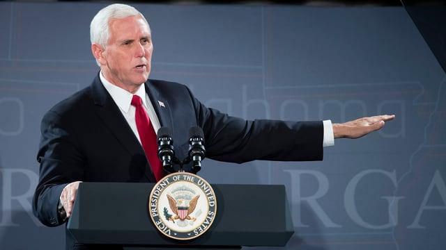 Vizepräsident Mike Pence könnte bei der Steuerreform das Zünglein an der Waage spielen.