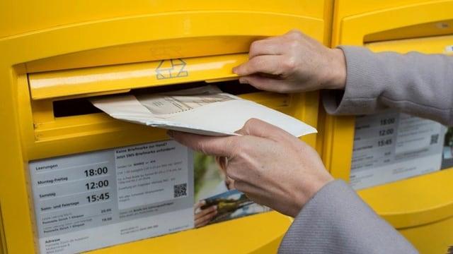 Couvert im Briefkasten