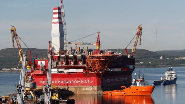 Plattform für die Petschorasee.