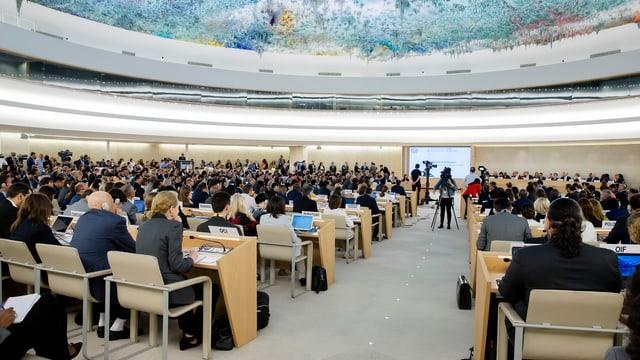 Der Menschenrechtsrat der Vereinten Nationen tagt in Genf.