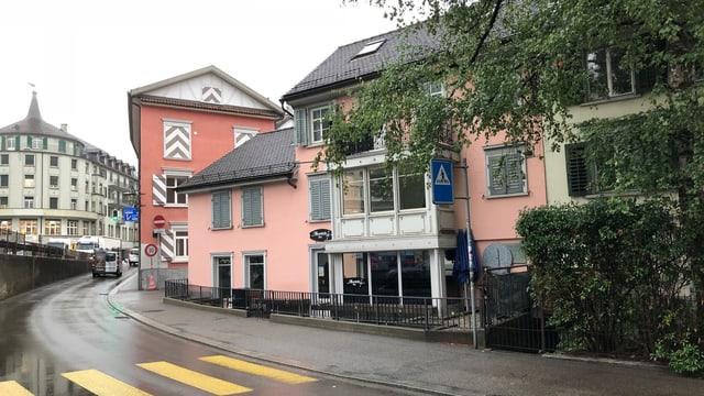 Das Geburtshaus von Walter Mittelholzer an der Augustinergasse 16 in St. Gallen.