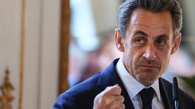 Portrait von Frankreichs Ex-Präsident Nicolas Sarkozy.