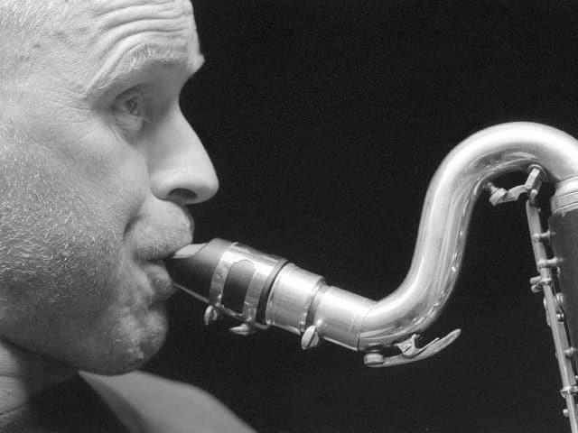 Ullmann am Saxophon