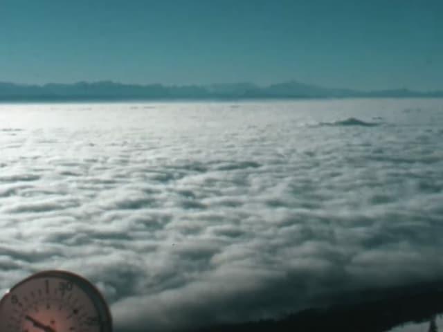 Blick auf Nebelmeer