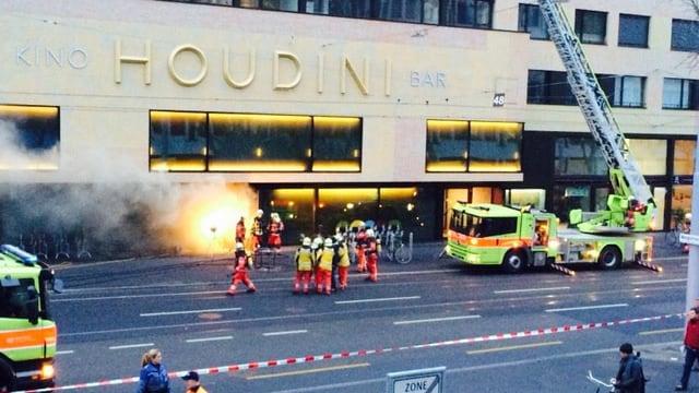 Brand an einem Gebäude