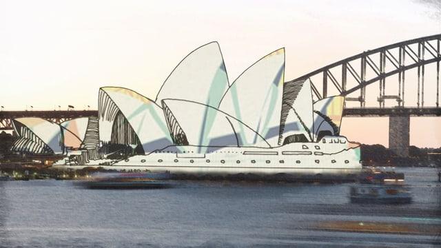Das Opernhaus von Sydney, Skyline der Brücke