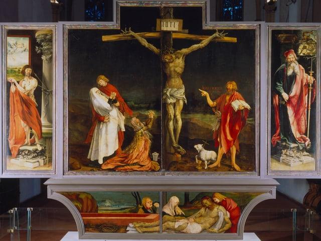 Die berühmte Kreuzigungsszene von Mathias Grünewald.