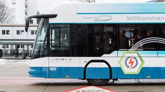 Der neue «Swiss Trolley plus» fährt nicht nur mit einem neuen Batterie-Antrieb, er verfügt auch über eine neue Heizung.