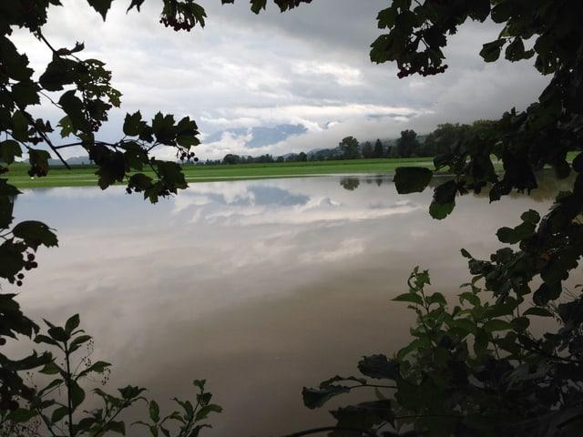 Blick auf die Überflutung.